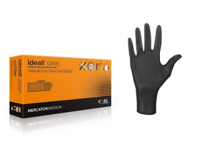 Poza Manusi Nitril Ideal Grip Negre L 1